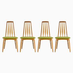 Eva Dining Chairs by Niels Koefoed for Hornslet Møbelfabrik, 1970s, Set of 4