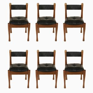 Beech Chairs by Silvio Coppola for Bernini, 1970s, Set of 6