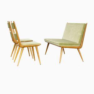 Boomerang Danish Dining Chairs and Sofa, 1960s