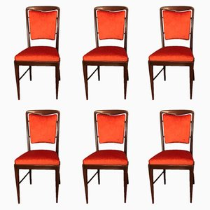 Italian Chairs, 1950s, Set of 6