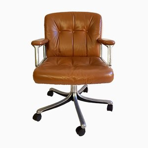 P128 Office Chair by Osvaldo Borsani for Tecno, 1960s