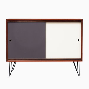 Teak Veneered Sideboard with Reversible Colored Doors, 1960s