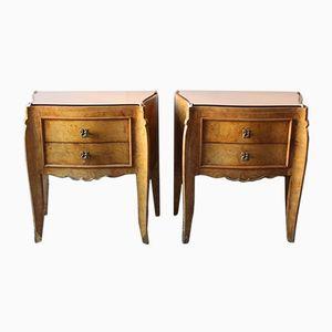 Art Deco Bedside Tables, Set of 2