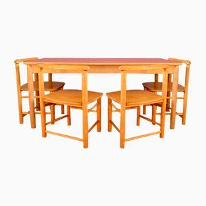 Kinder Basteltisch und Stühle Set, 1960er
