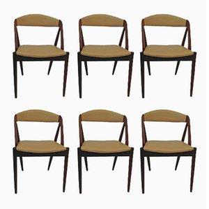 Model 31 Teak Dining Chairs by Kai Kristiansen for Schou Andersen, 1950s, Set of 6