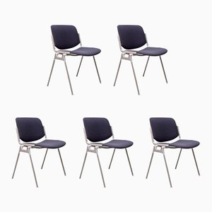 DSC 106 Chairs by Giancarlo Piretti for Castelli, 1970s, Set of 5