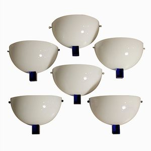 Vintage Victor Wall Lamps from Venini, 1980s, Set of 6