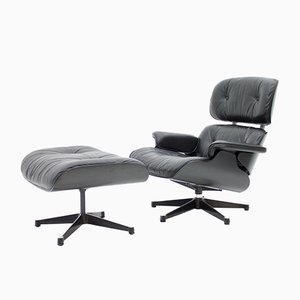 Vintage Lounge Chair with Ottoman by Charles & Ray Eames for Vitra