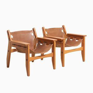 Kilin Armlehnstühle von Sergio Rodrigues für OCA Furniture, 1970er, 2er Set