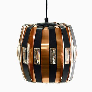 P25 Copper Pendant Light by Werner Schou for Coronell Electro, 1960s