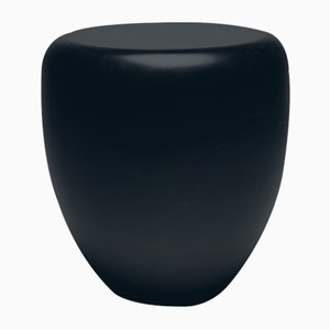 Dot Side Table or Stool in Black and Brown by Reda Amalou