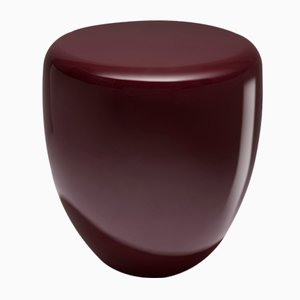 Dot Side Table or Stool in Deep Garnet by Reda Amalou
