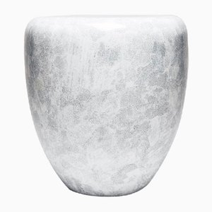 Dot Side Table or Stool in White Eggshell by Reda Amalou