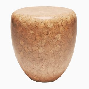 Dot Side Table or Stool in Brown Eggshell by Reda Amalou