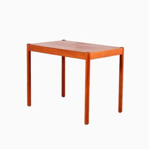 Vintage Danish Wooden Veneered Side Table, 1960s