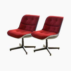 Vintage Chairs by Charles Pollock for Knoll, Set of 2