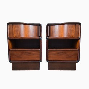 Danish Rosewood Nighstands from Kibæk Møbelfabrik, 1960s, Set of 2