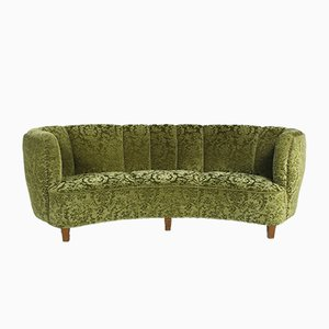 Mid-Century Danish Banana-Shaped Sofa