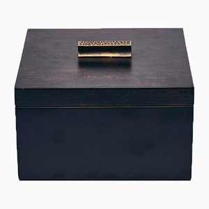 Decorative Box in Black and Brown by Reda Amalou