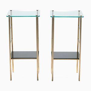 Opaline Bedside Tables, 1960s, Set of 2