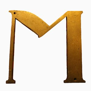 Antique Spanish M sign