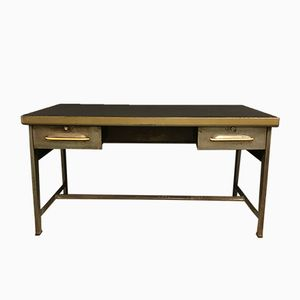 Industrial Metal Desk from Flambo, 1950s