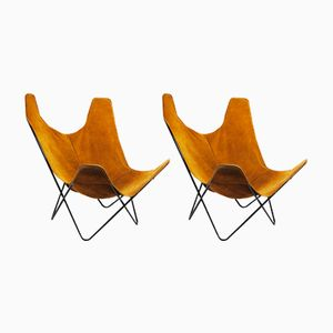 Butterfly Chairs by Jorge Hardoy-Ferrari for Knoll, 1970s, Set of 2