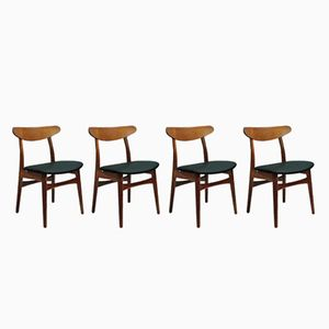 CH30 Chairs by Hans J. Wegner for Carl Hansen & Søn, 1950s, Set of 4