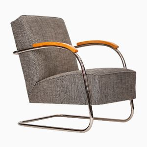 Tubular Steel Armchair from Mücke-Melder, 1930s
