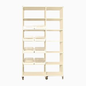 White-Line Regal Shelving Unit by System 180, 1980s
