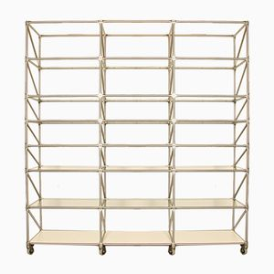 Steel-Line Regal Shelving Unit by Jürg Steiner & Dirk Uptmoor for System 180, 1980s