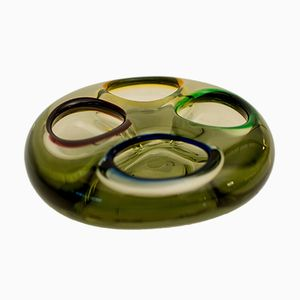 Mid-Century Italian Green Murano Glass Ashtray