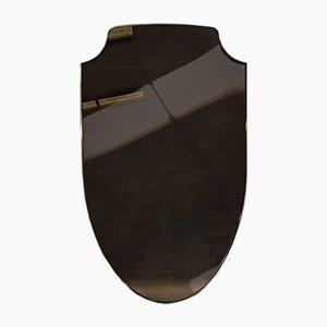 Aegis Bronze Shield Mirror in Brass by Richy Almond for Novocastrian