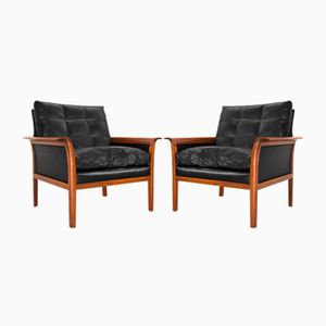 Mid-Century Lounge Chairs by Knut Saeter for Vatne Møbler, 1970s, Set of 2