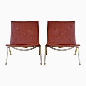PK 22 Side Chairs by Poul Kjæerholm for Kold Christensen, 1950s, Set of 2