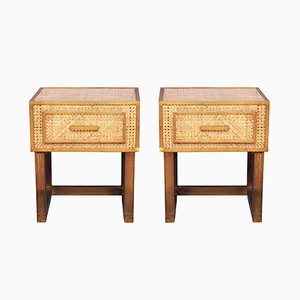Italian Bedside Tables by Gabriella Crespi for Dior Home, 1970s, Set of 2