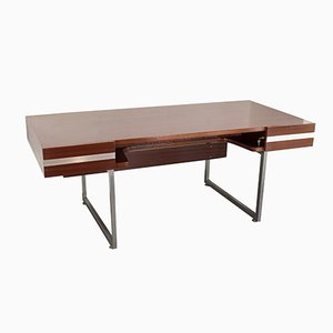 Rosewood Desk by Henri Lesêtre and Claude Gaillard, 1970s