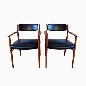 Danish Teak Armchairs by Arne Vodder for Sibast, 1960s, Set of 2