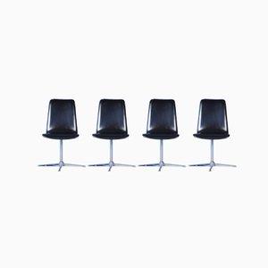 Mid-Century Swivel Chairs, Set of 4