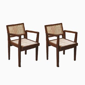 Mid-Century Armchairs by Pierre Jeanneret, Set of 2