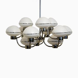 Vintage 12-Ball Chandelier by Gaetano Sciolari