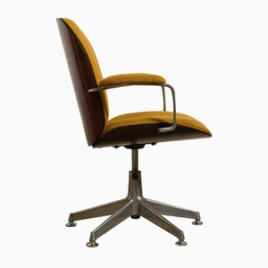 Terni Swivel Office Chair with Armrests by Ico & Luisa Parisi for MIM, 1959