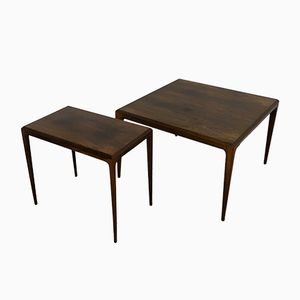 Coffee Table and Side Table Set by Johannes Andersen for CFC Silkeborg, 1960s