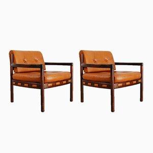 Scandinavian Armchairs, 1970s, Set of 2