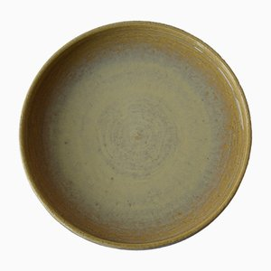 Large Yellow Ceramic Dish by Per Linnemann-Schmidt for Palshus, 1960s