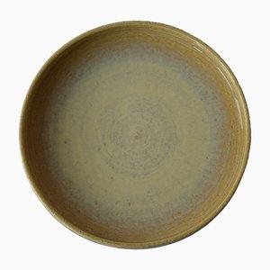 Large Yellow Ceramic Dish by Per Linnemann-Schmidt for Palshus, 1960s