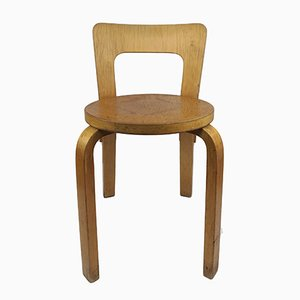 Vintage Model 65 Chair by Alvar Aalto for Artek, 1960s