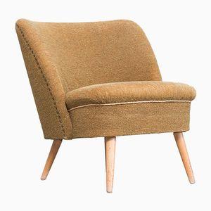 Vintage Scandinavian Lounge Chair in Mustard Yellow