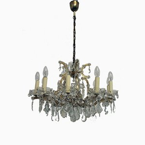Vintage 12-Light Maria Theresa-Style Crystal Chandelier from Lobmeyr
