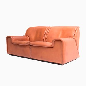 1010 Sofa in Neck Leather from de Sede, 1980s